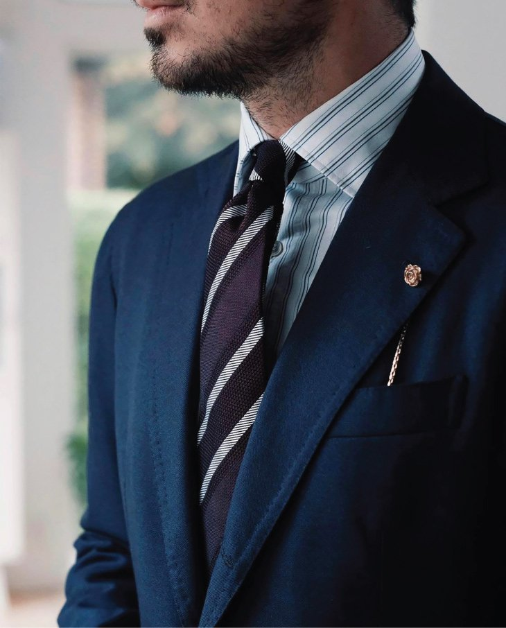Silk grenadine tie made in Italy by Stefano Cau